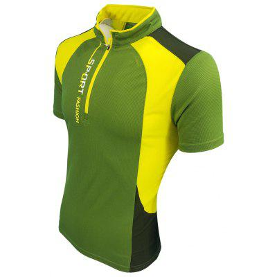 Outdoor Sports Short-Sleeved T-ShirtMens T-shirts<br>Outdoor Sports Short-Sleeved T-Shirt<br><br>Collar: Stand-Up Collar<br>Material: Polyester<br>Package Contents: 1X T-shirts<br>Pattern Type: Patchwork<br>Sleeve Length: Short Sleeves<br>Style: Active<br>Weight: 0.2000kg