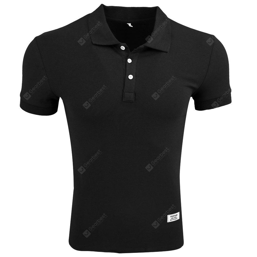 Menswear Summer Short-Sleeved Lapel of Pure Color Casual Fashion Simple T-shirt