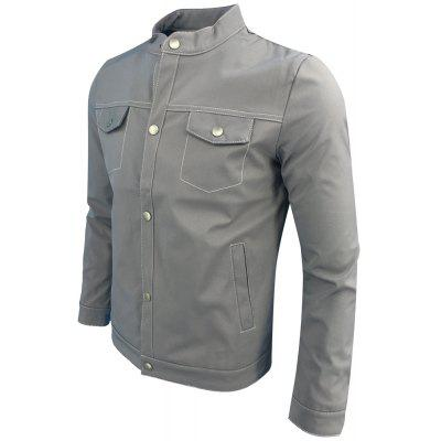 Spring and Autumn Fashion Leisure Stand Collar Tide JacketMens Jackets &amp; Coats<br>Spring and Autumn Fashion Leisure Stand Collar Tide Jacket<br><br>Clothes Type: Jackets<br>Collar: Stand Collar<br>Material: Polyester<br>Package Contents: 1XJacket<br>Season: Summer<br>Shirt Length: Regular<br>Sleeve Length: Long Sleeves<br>Style: Fashion<br>Weight: 0.4000kg