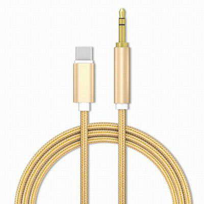 Braided to 3.5mm Male Aux Audio Cable Auxiliary Stereo Cord for Type-C Phone Headphone Car
