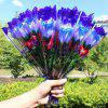 LED Flashing Rose Flower Wedding Anniversary Party Decorations Hair Glow Gift - BLUE