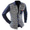 Men Casual Floral Shirt - OFF-WHITE