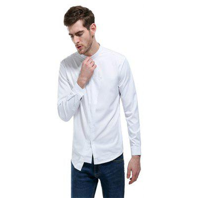 Pure Color Small Square Collar Collect Waist ShirtMens Shirts<br>Pure Color Small Square Collar Collect Waist Shirt<br><br>Collar: Turn-down Collar<br>Fabric Type: Polyester<br>Material: Polyester<br>Package Contents: 1 x Shirt<br>Shirts Type: Casual Shirts<br>Sleeve Length: Full<br>Weight: 0.2500kg
