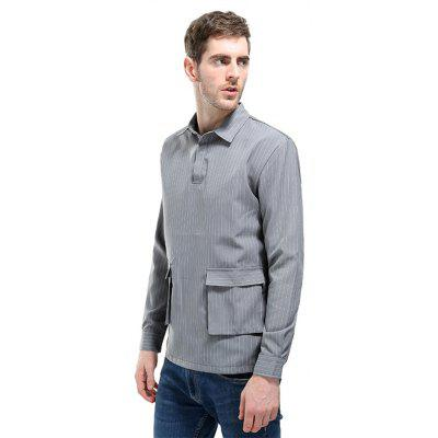 British Simple Big Pocket Fashion Striped Man Long Sleeved ShirtMens Shirts<br>British Simple Big Pocket Fashion Striped Man Long Sleeved Shirt<br><br>Collar: Turn-down Collar<br>Fabric Type: Polyester<br>Material: Polyester<br>Package Contents: 1 x Shirt<br>Shirts Type: Casual Shirts<br>Sleeve Length: Full<br>Weight: 0.2500kg