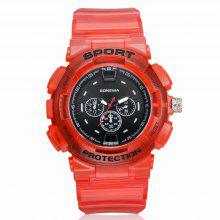 GON045 Men Silicon Band Analog Quartz Sport Watch