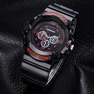 GON046 Men Black Silicon Band Analog Quartz Sport WatchMens Watches<br>GON046 Men Black Silicon Band Analog Quartz Sport Watch<br><br>Band material: Silicone<br>Band size: 27 x 2.3 CM<br>Case material: Alloy<br>Clasp type: Pin buckle<br>Dial size: 5.3 x 5.3 x 1.3 CM<br>Display type: Analog<br>Movement type: Quartz watch<br>Package Contents: 1 x Watch<br>Package size (L x W x H): 29.50 x 6.50 x 1.40 cm / 11.61 x 2.56 x 0.55 inches<br>Package weight: 0.0510 kg<br>Product size (L x W x H): 27.00 x 5.30 x 1.30 cm / 10.63 x 2.09 x 0.51 inches<br>Product weight: 0.0490 kg<br>Shape of the dial: Round<br>Watch mirror: Mineral glass<br>Watch style: Retro, Business, Fashion, Casual<br>Watches categories: Men