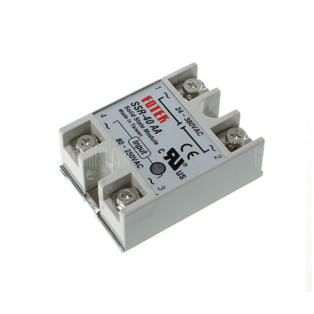 Ssr 40aa 40a Single Phase Solid State Relay 80 250v Ac 24 380v Brands 641 Free Shipping