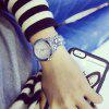 Luxury Women Rhinestone Fashion Lady Dress Watch Stainless Steel Silver Gold Bracelet Wristwatch Big Diamond - SILVER
