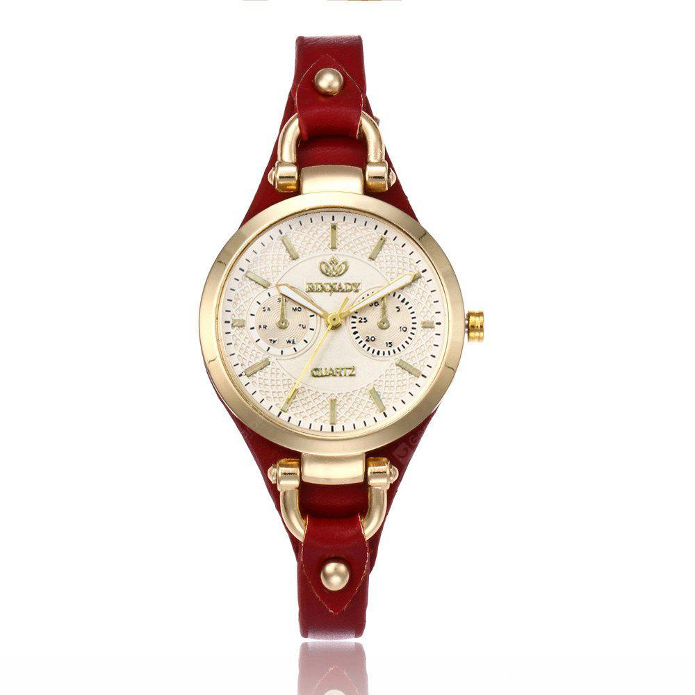 Women  Fashionable Thin Band Elegant All Match Classy Watch