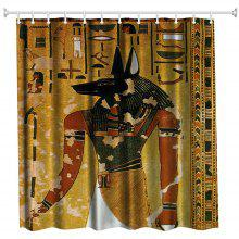 Anubis Polyester Shower Curtain Bathroom High Definition 3D Printing Water-Proof