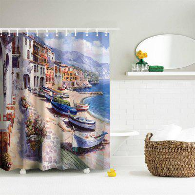 Oil Painting City 1 Polyester Shower Curtain Bathroom  High Definition 3D Printing Water-ProofShower Curtain<br>Oil Painting City 1 Polyester Shower Curtain Bathroom  High Definition 3D Printing Water-Proof<br><br>Package Contents: 1 x Shower Curtain , 1 x Set of Hooks<br>Package size (L x W x H): 26.00 x 18.00 x 3.00 cm / 10.24 x 7.09 x 1.18 inches<br>Package weight: 0.4000 kg