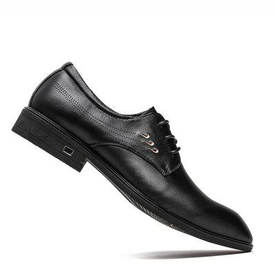 Cowhide Rubber Bottom Leisure Business Leather Shoes