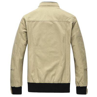 Cargo Jacket Man Casual Cotton Stand Collar JacketsMens Jackets &amp; Coats<br>Cargo Jacket Man Casual Cotton Stand Collar Jackets<br><br>Clothes Type: Jackets<br>Collar: Turn-down Collar<br>Fabric Type: Broadcloth<br>Material: Cotton<br>Package Contents: 1XJacket<br>Season: Fall<br>Shirt Length: Regular<br>Sleeve Length: Long Sleeves<br>Style: Casual<br>Weight: 0.8200kg