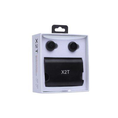 True Wireless Earbuds Twins X2T Mini Bluetooth CSR4.2 Earphone Stereo with Magnetic Charger Box CaseBluetooth Headphones<br>True Wireless Earbuds Twins X2T Mini Bluetooth CSR4.2 Earphone Stereo with Magnetic Charger Box Case<br><br>Bluetooth Version: V4.2<br>Package Contents: 2 x Bluetooth Earphone, 1 x Charger, 1 x USB Cable, 1 x Pull Rope Bag, 1 x English User Manual<br>Package size (L x W x H): 11.20 x 10.20 x 4.60 cm / 4.41 x 4.02 x 1.81 inches<br>Package weight: 0.1770 kg
