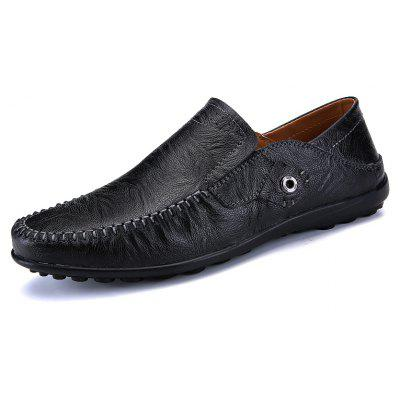 New Leather Tree Peas ShoesMen's Oxford<br>New Leather Tree Peas Shoes<br><br>Available Size: 38-44<br>Closure Type: Elastic band<br>Embellishment: None<br>Gender: For Men<br>Outsole Material: Rubber<br>Package Contents: 1xshoes(pair)<br>Pattern Type: Solid<br>Season: Summer, Spring/Fall<br>Toe Shape: Round Toe<br>Toe Style: Closed Toe<br>Upper Material: Genuine Leather<br>Weight: 1.5840kg