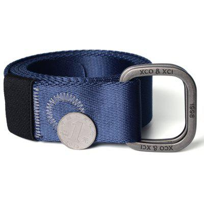 Quick Dry Double Ring Metal Buckle Wide Nylon Weaving Waist Belt for Male