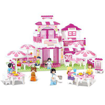 Sluban Building Blocks Educational Kids Toy Romantic Restaurant of Friends 306PCS