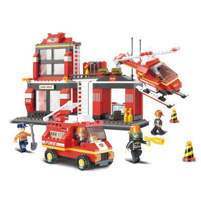 Bloques de construcción de Sluban Educational Kids Toy Fire Police Station 371PCS