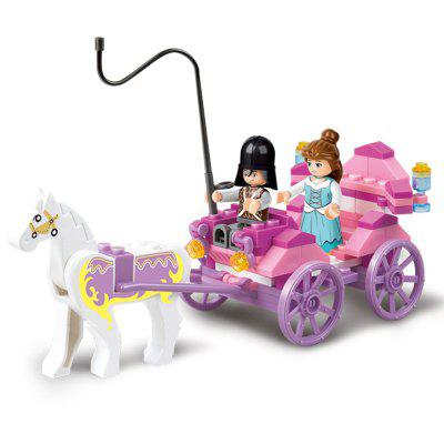 Bloques de construcción Sluban Juguete educativo para niños The Princess Carriage of Friends 99PCS
