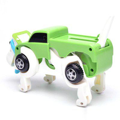 New Automatic Transform Dog Car Vehicle Clockwork Wind Up Toy for Children