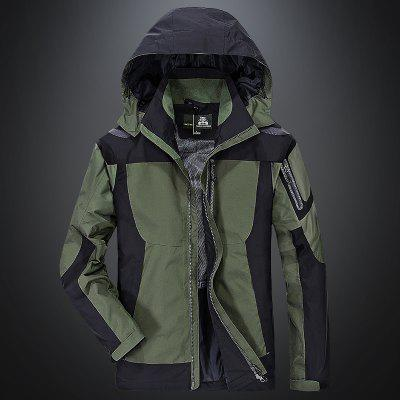 Thin Charge Outdoor Windbreaker CoatMens Jackets &amp; Coats<br>Thin Charge Outdoor Windbreaker Coat<br><br>Closure Type: Zipper<br>Clothes Type: Trench<br>Collar: Hooded<br>Detachable Part: Hat Detachable<br>Materials: Chinlon<br>Package Content: 1 x Coat<br>Package size (L x W x H): 1.00 x 1.00 x 1.00 cm / 0.39 x 0.39 x 0.39 inches<br>Package weight: 0.6000 kg<br>Size1: M,L,XL,4XL,2XL,3XL<br>Sleeve Style: Regular<br>Style: Casual<br>Technics: Printed<br>Thickness: Thin
