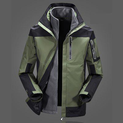Casual Windproof Camping Outdoor CoatMens Jackets &amp; Coats<br>Casual Windproof Camping Outdoor Coat<br><br>Closure Type: Zipper<br>Clothes Type: Trench<br>Collar: Hooded<br>Color Style: Contrast Color<br>Detachable Part: Hat Detachable<br>Materials: Chinlon<br>Package Content: 1 x Coat<br>Package size (L x W x H): 1.00 x 1.00 x 1.00 cm / 0.39 x 0.39 x 0.39 inches<br>Package weight: 1.2000 kg<br>Size1: M,L,XL,4XL,2XL,3XL<br>Sleeve Style: Regular<br>Style: Casual<br>Technics: Printed<br>Thickness: Medium thickness
