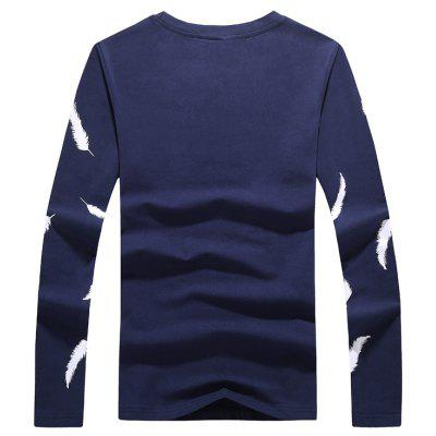 MYY1902 Mens Long Sleeved Feathered T-ShirtsMens T-shirts<br>MYY1902 Mens Long Sleeved Feathered T-Shirts<br><br>Collar: Round Neck<br>Material: Cotton, Spandex<br>Package Contents: 1 X t-shirts<br>Pattern Type: Print<br>Sleeve Length: Full<br>Style: Casual<br>Weight: 0.3000kg