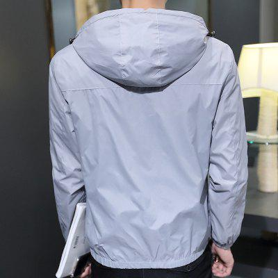 DQC8606 Mens Casual Jacket Comfy Zipper Long Sleeve Hooded JacketMens Jackets &amp; Coats<br>DQC8606 Mens Casual Jacket Comfy Zipper Long Sleeve Hooded Jacket<br><br>Clothes Type: Jackets<br>Collar: Hooded<br>Material: Polyester<br>Package Contents: 1 X Coat<br>Season: Spring, Fall<br>Shirt Length: Regular<br>Sleeve Length: Long Sleeves<br>Style: Casual<br>Weight: 0.3000kg