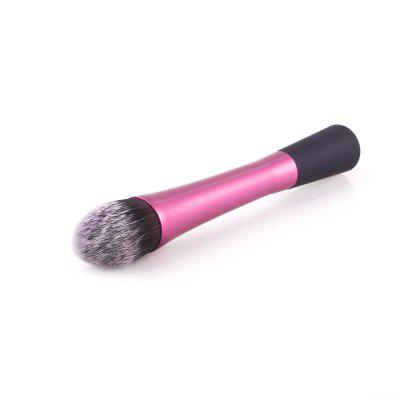 Push Blush Brushes Facial Beauty Foundation Maquiagem Ferramentas Pink Metal Handle Flame Shape