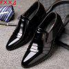 Business Suit Leather Shoes Low Help - BLACK