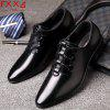Top Leather Shoes Business Casual Shoes - BLACK