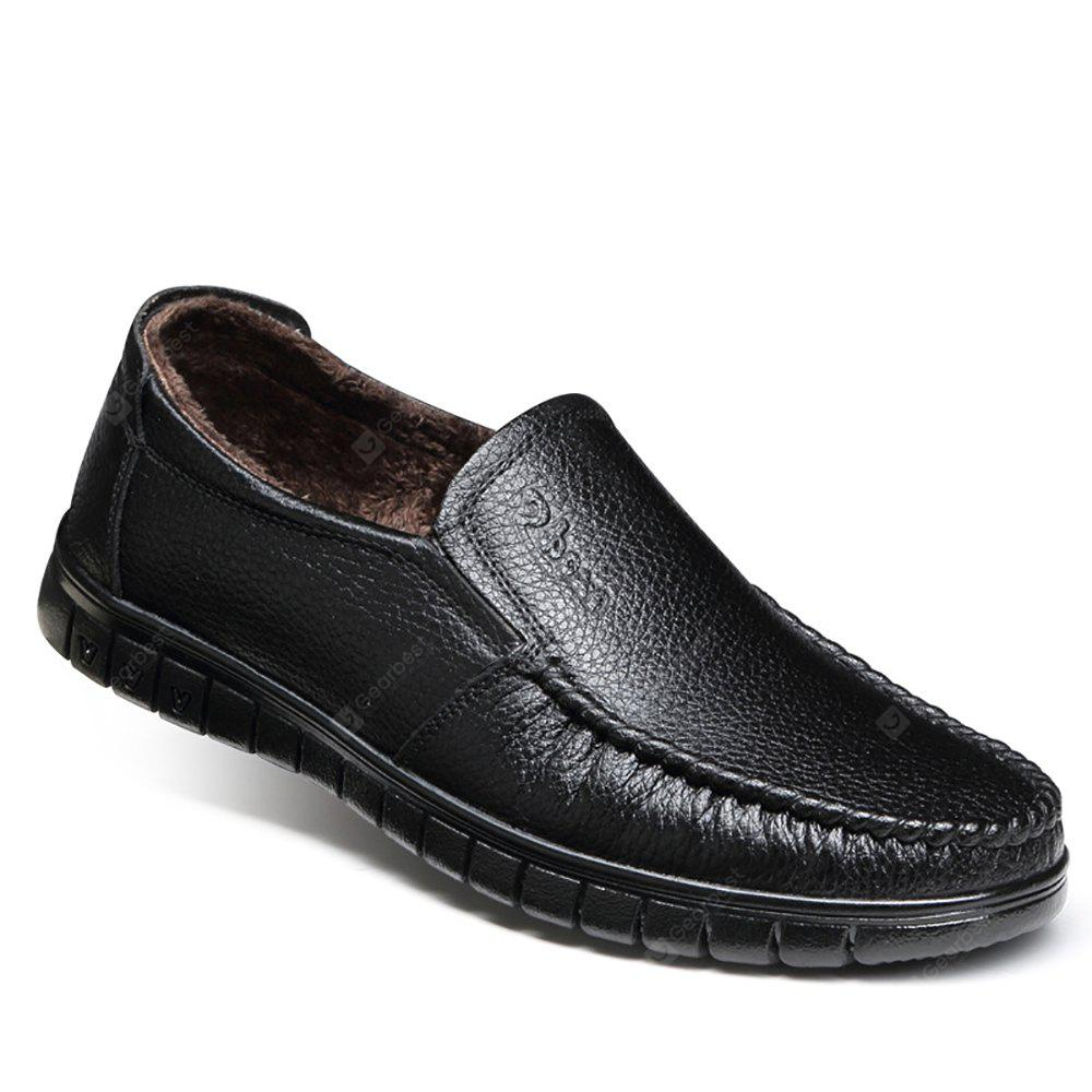 Casual Leather Warmth Retention Shoes
