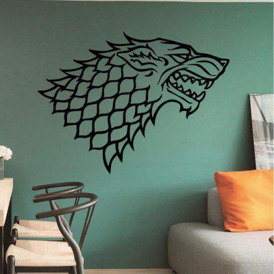 Game7 DIY Removable Custom Animals Wolf Head Pattern Vinyl Wall Sticker For Nursey Kids RoomWall Stickers<br>Game7 DIY Removable Custom Animals Wolf Head Pattern Vinyl Wall Sticker For Nursey Kids Room<br><br>Art Style: Plane Wall Stickers, Toilet Stickers<br>Color Scheme: Black<br>Function: Decorative Wall Sticker<br>Material: Paper, Vinyl(PVC)<br>Package Contents: 1 x wall sticker, 1 x transfer sheet<br>Package size (L x W x H): 44.00 x 4.00 x 4.00 cm / 17.32 x 1.57 x 1.57 inches<br>Package weight: 0.1000 kg<br>Quantity: 1<br>Sizes: Others<br>Subjects: Animal,Flower,Famous,Shape<br>Suitable Space: Living Room,Bedroom,Office,Kids Room,Corridor,Kids Room,Study Room / Office<br>Type: Plane Wall Sticker
