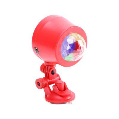 U'King 4W RGBW Auto Rotating Ripple Pattern Mini Magic Ball Projector for Effect Lighting