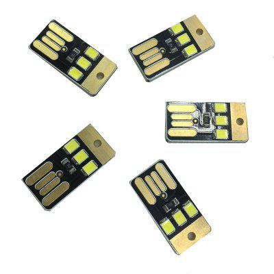 5PCS 0.5W White USB Mini Lamp Night Light 3LEDS DC5V 2835 SMD 85LM USB LED Bulbs for Laptop