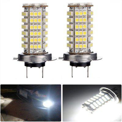 2PCS H7 120LEDS 3528SMD Car LED Head Lights Fog Lamp DC12V