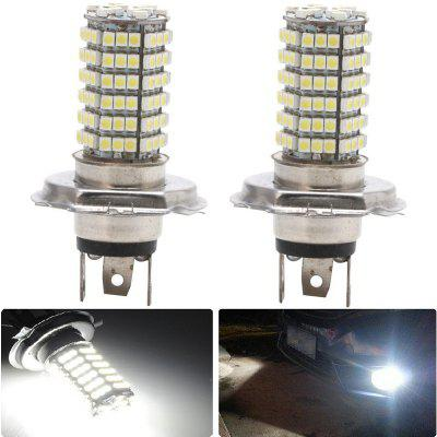 2PCS H4 120LEDS 3528SMD Car LED Head Lights Fog Lamp DC12V