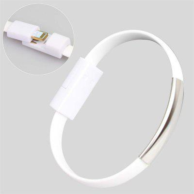 20CM Bracelet Style Cord TPE Flat 8 Pin USB Data Charger Cable for iPhone 6 / 5