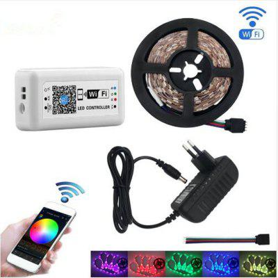KWB WiFi Controller 5050 RGB LED Strip light 300leds lampada al neon Decor Nastro diodo nastro DC 12V adattatore