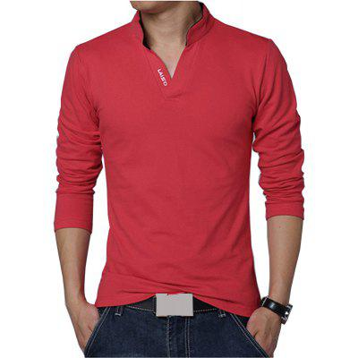 V Collar Long Sleeve T ShirtMens T-shirts<br>V Collar Long Sleeve T Shirt<br><br>Collar: V-Neck<br>Embellishment: Spliced<br>Material: Cotton, Spandex<br>Package Contents: 1 x T Shirt<br>Pattern Type: Solid<br>Sleeve Length: Full<br>Style: Casual<br>Weight: 0.2800kg