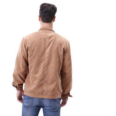 Casual Turn Down Collar Casual JacketMens Jackets &amp; Coats<br>Casual Turn Down Collar Casual Jacket<br><br>Clothes Type: Jackets<br>Collar: Turn-down Collar<br>Fabric Type: Corduroy<br>Material: Polyester<br>Package Contents: 1 x Jacket<br>Season: Spring, Fall<br>Shirt Length: Regular<br>Sleeve Length: Long Sleeves<br>Style: Casual<br>Weight: 0.4200kg