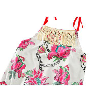 SOSOCOER Newborn Infant Girls Bodysuits Flower Printing Sling Tassel Sleeveless Romperbaby rompers<br>SOSOCOER Newborn Infant Girls Bodysuits Flower Printing Sling Tassel Sleeveless Romper<br><br>Brand: SOSOCOER<br>Closure Type: Pullover<br>Collar: Round Neck<br>Color: Pink,White,Green<br>Gender: Girl<br>Material: Cotton<br>Package Contents: 1 x Romper<br>Pattern Style: Floral<br>Season: Summer<br>Sleeve Length: Sleeveless<br>Style: Sweet<br>Thickness: General<br>Weight: 0.0700kg