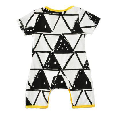 SOSOCOER Newborn Infant Girls Bodysuits Summer Triangle Printed Baby Romperbaby rompers<br>SOSOCOER Newborn Infant Girls Bodysuits Summer Triangle Printed Baby Romper<br><br>Brand: SOSOCOER<br>Closure Type: Pullover<br>Collar: Round Neck<br>Color: Black,White<br>Decoration: Pattern<br>Gender: Unisex<br>Material: Cotton<br>Package Contents: 1 x Romper<br>Pattern Style: Geometric<br>Season: Summer<br>Sleeve Length: Short<br>Sleeve Style: Regular<br>Style: Contracted<br>Thickness: General<br>Weight: 0.1200kg