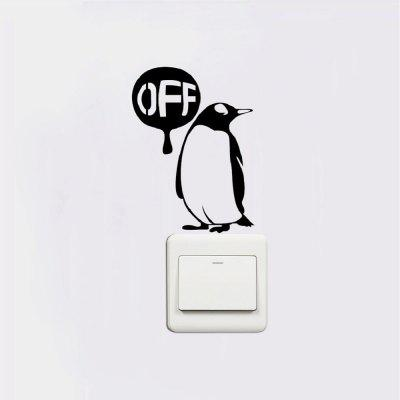 DSU Cute Penguin Save Electricity Light Switch Sticker Creative Cartoon Animal Vinly DecalWall Stickers<br>DSU Cute Penguin Save Electricity Light Switch Sticker Creative Cartoon Animal Vinly Decal<br><br>Art Style: Plane Wall Stickers, Toilet Stickers<br>Artists: Others<br>Brand: DSU<br>Color Scheme: Black<br>Effect Size (L x W): 12.8 x 9.5 cm<br>Function: Light Switch Stickers, Decorative Wall Sticker<br>Layout Size (L x W): 12.8 x 9.5 cm<br>Material: Vinyl(PVC)<br>Package Contents: 1 x Wall Sticker<br>Package size (L x W x H): 14.00 x 11.00 x 1.00 cm / 5.51 x 4.33 x 0.39 inches<br>Package weight: 0.0300 kg<br>Product size (L x W x H): 12.80 x 9.50 x 0.01 cm / 5.04 x 3.74 x 0 inches<br>Product weight: 0.0200 kg<br>Quantity: 1<br>Subjects: Fashion,Letter,Cute,Cartoon,Famous,Game<br>Suitable Space: Living Room,Bedroom,Hotel,Kids Room,Entry,Kitchen,Pathway,Door,Corridor,Hallway,Boys Room,Game Room<br>Type: Plane Wall Sticker