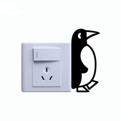DSU  Cute Penguin Switch Sticker Cartoon Animal Vinyl Wall Stickers for Kids RoomWall Stickers<br>DSU  Cute Penguin Switch Sticker Cartoon Animal Vinyl Wall Stickers for Kids Room<br><br>Art Style: Plane Wall Stickers, Toilet Stickers<br>Artists: Others<br>Brand: DSU<br>Color Scheme: Black<br>Effect Size (L x W): 10 x 4.5 cm<br>Function: Light Switch Stickers, Decorative Wall Sticker<br>Layout Size (L x W): 10 x 4.5 cm<br>Material: Vinyl(PVC)<br>Package Contents: 1 x Wall Sticker<br>Package size (L x W x H): 12.00 x 6.00 x 1.00 cm / 4.72 x 2.36 x 0.39 inches<br>Package weight: 0.0200 kg<br>Product size (L x W x H): 10.00 x 4.50 x 0.01 cm / 3.94 x 1.77 x 0 inches<br>Product weight: 0.0100 kg<br>Quantity: 1<br>Subjects: Fashion,Letter,Cute,Cartoon,Famous,Game<br>Suitable Space: Living Room,Bedroom,Hotel,Kids Room,Entry,Kitchen,Pathway,Door,Corridor,Hallway,Boys Room,Game Room<br>Type: Plane Wall Sticker