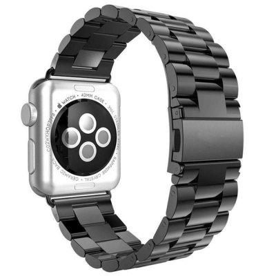 Buy Replacement Stainless Steel Bracelet Strap Band for Apple Watch 38MM BLACK for $22.03 in GearBest store