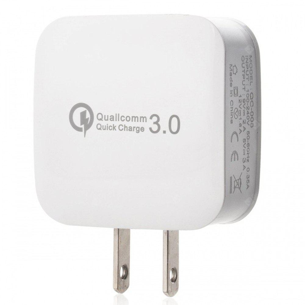 5V/3A QC 3.0 Quick Charge US Plug USB AC Charger / USB Wall Charger