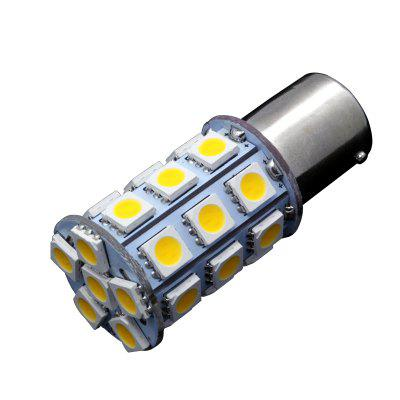 10PCS  Warm White Car RV 1156 BA15S 27-SMD 5050 Dome LED Interior Light Bulb P21W