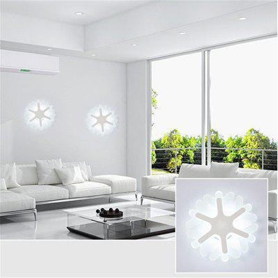 20cm 17W Modern Simple Snow Acrylic Led Wall Lamp Bedroom Living Room Porch Light