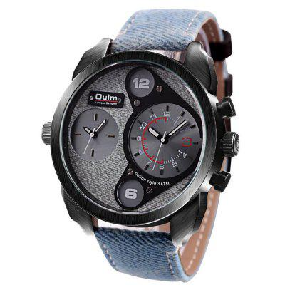 Double Movement Big Dial Leisure Men Quartz WatchMens Watches<br>Double Movement Big Dial Leisure Men Quartz Watch<br><br>Band material: Canvas<br>Case material: Zinc Alloy<br>Clasp type: Pin buckle<br>Movement type: Quartz watch<br>Package Contents: 1 x watch<br>Package size (L x W x H): 10.00 x 10.00 x 5.00 cm / 3.94 x 3.94 x 1.97 inches<br>Package weight: 0.2000 kg<br>Product weight: 0.1500 kg<br>Shape of the dial: Round<br>Special features: GMT, World time clock timer countdown<br>Watch style: Retro, Fashion<br>Watches categories: Men